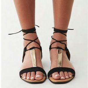 Forever 21 | Cupid Faux Suede Lace Up Sandal 6.5